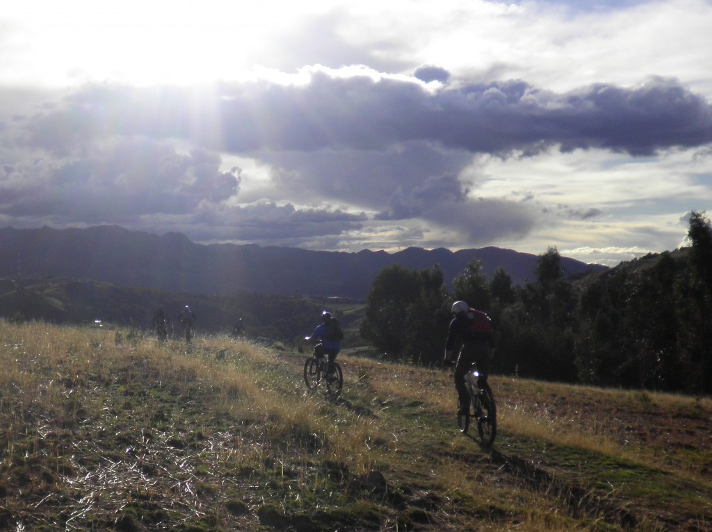 Mountain Biking Outside Cusco