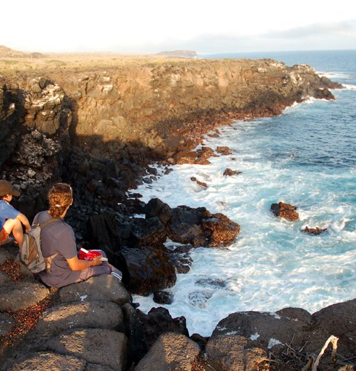 Relaxing in Las Negritas, Galapagos