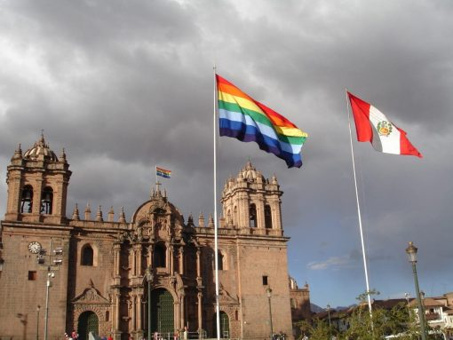 Cusco and Peruvian Flags