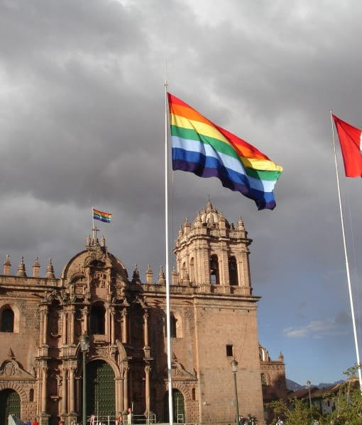 Cusco and Peruvian Flags