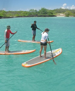 Stand up paddling in the Galapagos