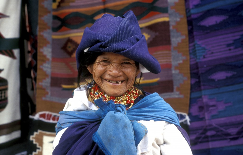 Otovalo Woman in Traditional Dress
