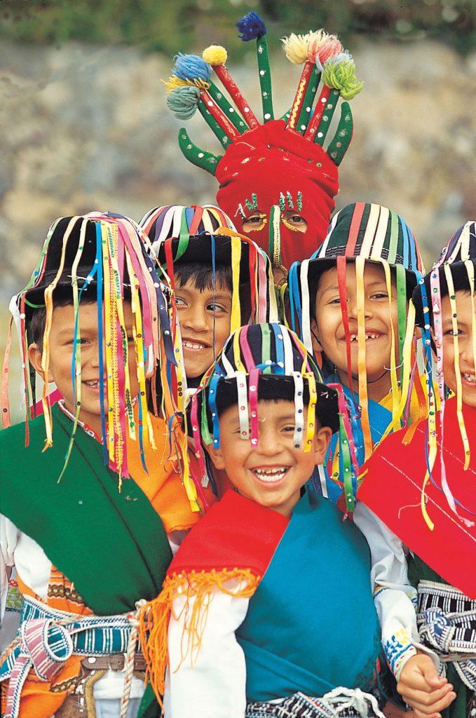 Kids celebrating in Ecuador