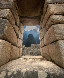 Machu Picchu Stonework and Window to the World