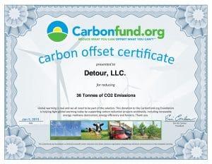 Carbonfundorg Certificate Detour 2015