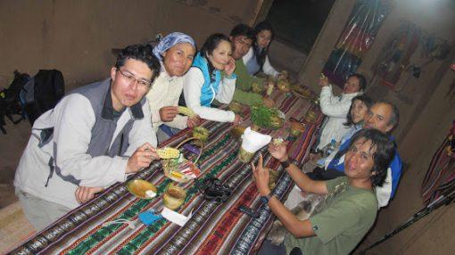 Dinner at Huchuyqusco Homestay